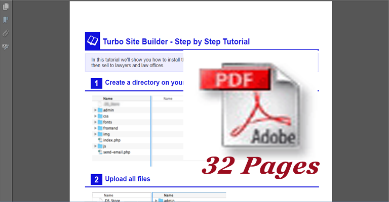 Turbo Site Builder Steb By Step PDF Tutorial