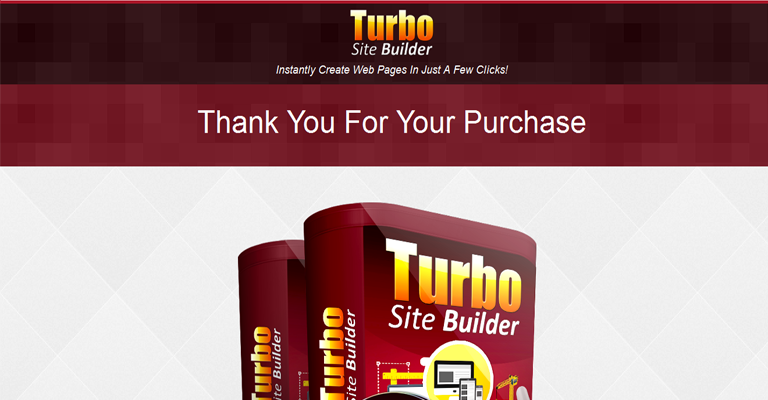Turbo Site Builder Thank You Page