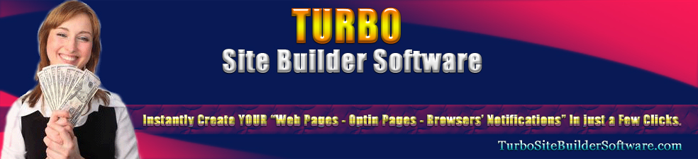 Turbo Site Builder Software header