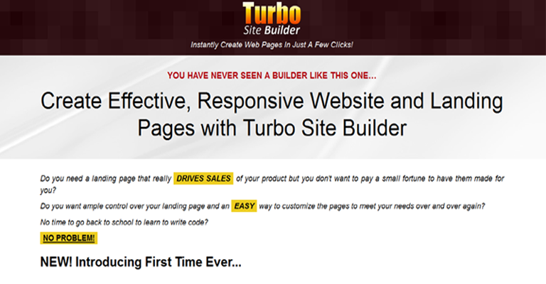 Turbo Site Builder Software Demo